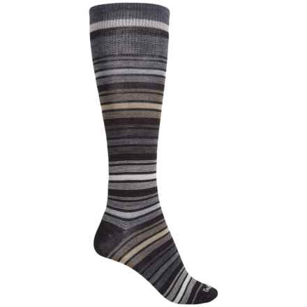 Goodhew Ringlet Socks - Merino Wool, Over the Calf (For Women) in Black - Closeouts
