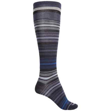 Goodhew Ringlet Socks - Merino Wool, Over the Calf (For Women) in Navy - Closeouts