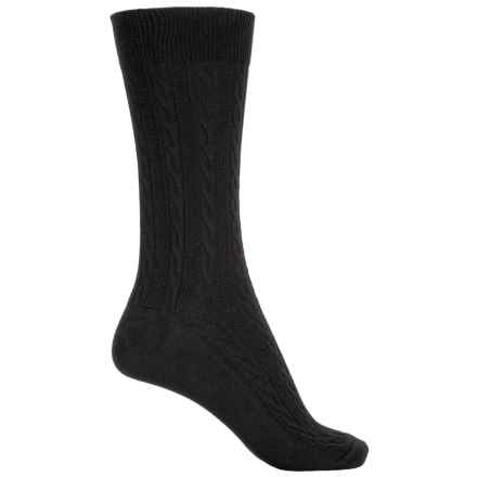 Goodhew San Fran Cable Socks - Merino Wool, Crew (For Women) in Black - Closeouts