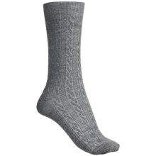 Goodhew San Fran Cable Socks - Merino Wool, Lightweight (For Women) in Grey - 2nds