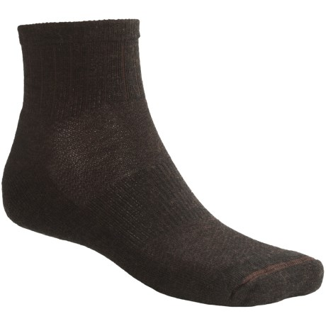Goodhew Santa Fe Socks - Merino Wool, Quarter-Crew (For Men and Women) in Brown