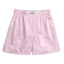 Goodhew Sateen Boxer Shorts - Egyptian Cotton (For Men) in Pinpoint Pink - Closeouts