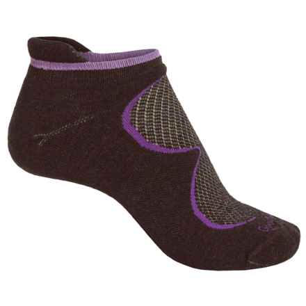Goodhew Sedona Micro-Tab Socks - Lambswool-Alpaca Blend, Below the Ankle (For Women) in Espresso - Closeouts