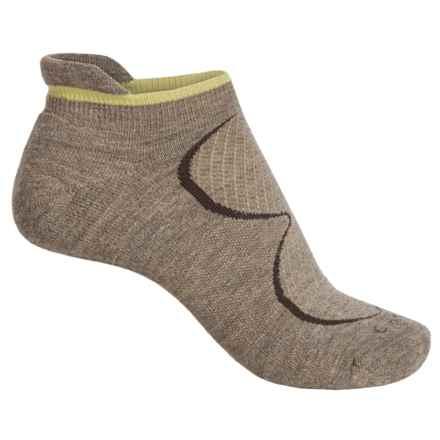 Goodhew Sedona Micro-Tab Socks - Lambswool-Alpaca Blend, Below the Ankle (For Women) in Khaki - Closeouts