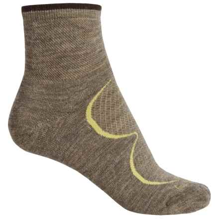 Goodhew Sedona Socks - Lambswool-Alpaca Blend, Quarter Crew (For Women) in Khaki - Closeouts