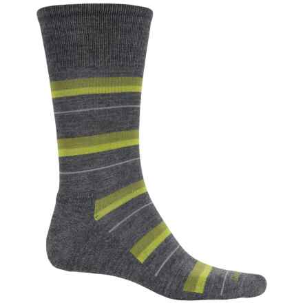 Goodhew Shadow Stripe Socks - Crew (For Men) in Charcoal - Closeouts