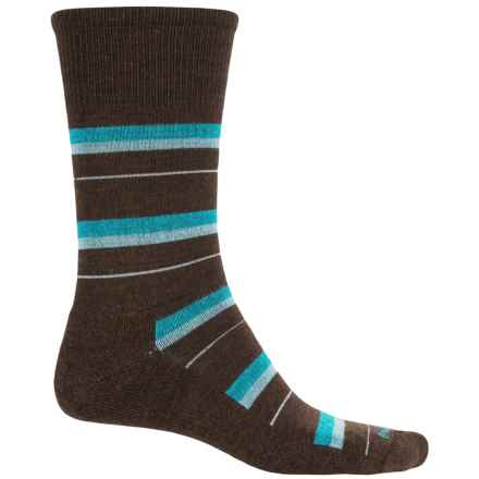Goodhew Shadow Stripe Socks - Crew (For Men) in Espresso - Closeouts