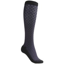 Goodhew Shelly Knee-High Socks - Merino Wool, Over the Calf (For Women) in Black/Dark Grey/Plum - Closeouts