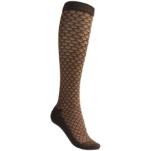 Goodhew Shelly Knee-High Socks - Merino Wool, Over the Calf (For Women) in Chocolate/Beige/Rust - Closeouts