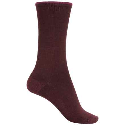 Goodhew Skinny Minnie Socks - Merino Wool, Crew (For Women) in Port - Closeouts