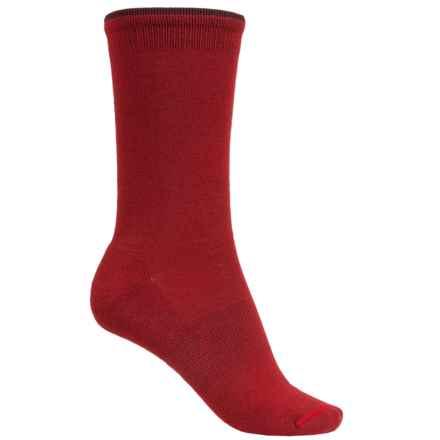 Goodhew Skinny Minnie Socks - Merino Wool, Crew (For Women) in Ruby - Closeouts