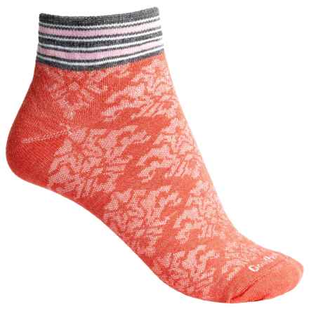Goodhew Sport Fantasia Socks - Merino Wool, Ankle (For Women) in Guava - Closeouts