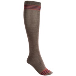 Goodhew Stripe Knee-High Socks - Merino Wool, Over the Calf (For Women) in Brown