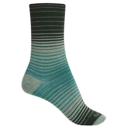 Goodhew Sunset Socks - Merino Wool, Crew (For Women) in Celadon - Closeouts