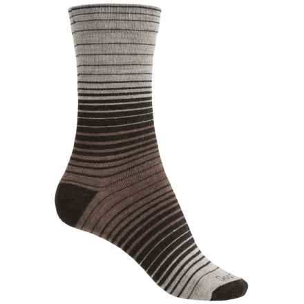 Goodhew Sunset Socks - Merino Wool, Crew (For Women) in Espresso - Closeouts