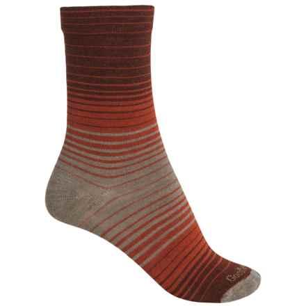 Goodhew Sunset Socks - Merino Wool, Crew (For Women) in Khaki - Closeouts