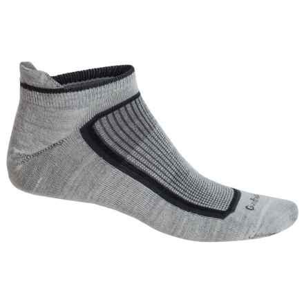 Goodhew Taos Ultralight Athletic Socks - Lambswool-Alpaca Blend, Below the Ankle (For Men) in Oyster - Closeouts