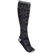 Goodhew Tapestry Socks - Over-the-Calf (For Women) in Charcoal - Closeouts
