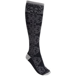 Goodhew Tapestry Socks - Over-the-Calf (For Women) in Charcoal