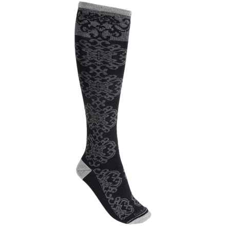 Goodhew Tapestry Socks - Over the Calf (For Women) in Charcoal - Closeouts
