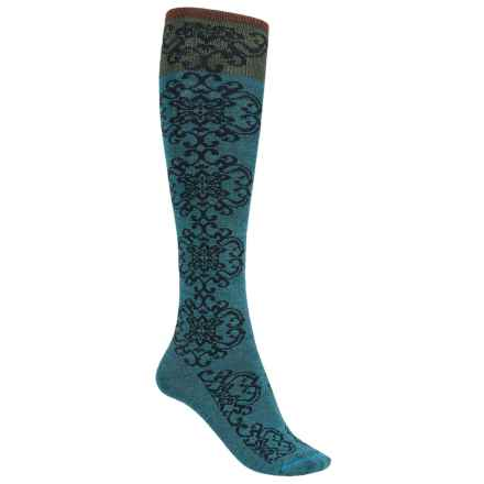 Goodhew Tapestry Socks - Over the Calf (For Women) in Teal - Closeouts