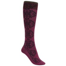 Goodhew Tapestry Socks - Over-the-Calf (For Women) in Thistle - Closeouts