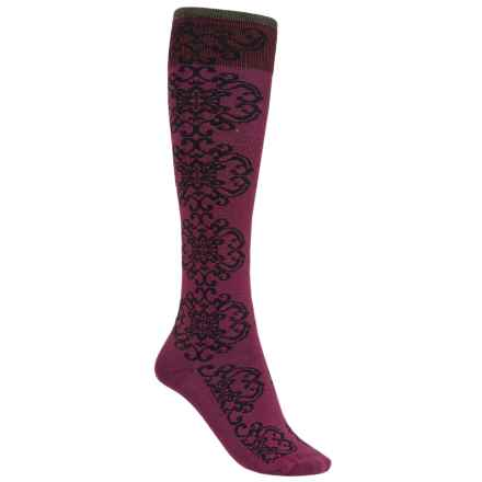 Goodhew Tapestry Socks - Over the Calf (For Women) in Thistle - Closeouts
