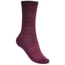 Goodhew Tone-Isle Socks - Merino Wool, Crew (For Women) in Thistle - Closeouts