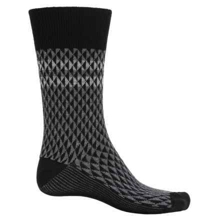 Goodhew Trilogy Jacquard Socks - Merino Wool, Crew (For Men) in Black - Closeouts