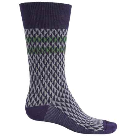 Goodhew Trilogy Jacquard Socks - Merino Wool, Crew (For Men) in Concorde - Closeouts