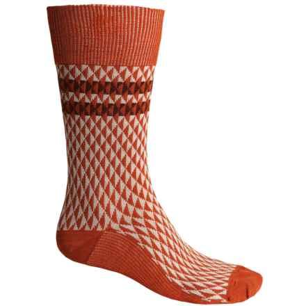 Goodhew Trilogy Jacquard Socks - Merino Wool, Crew (For Men) in Ginger - Closeouts