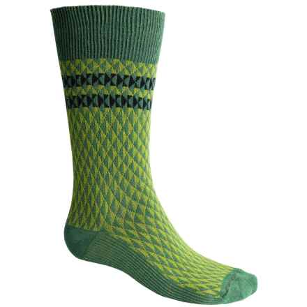 Goodhew Trilogy Jacquard Socks - Merino Wool, Crew (For Men) in Meadow - Closeouts