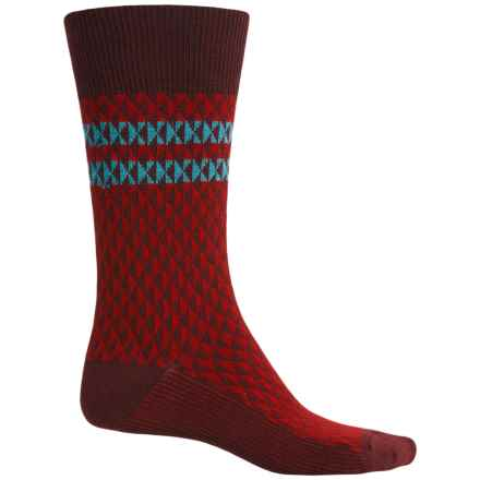 Goodhew Trilogy Jacquard Socks - Merino Wool, Crew (For Men) in Port - Closeouts