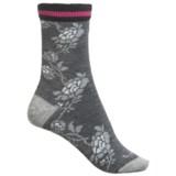 Goodhew Varsity Rose Socks - Merino Wool Blend, Crew (For Women)