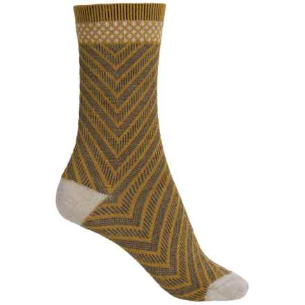 Goodhew Very V Socks - Merino Wool Blend, Crew (For Women) in Ochre - Closeouts