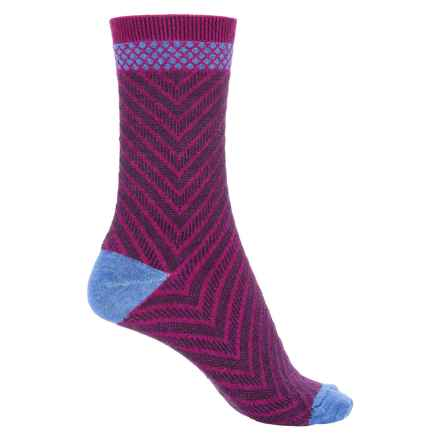 Goodhew Very V Socks - Merino Wool Blend, Crew (For Women) in Violet - Closeouts