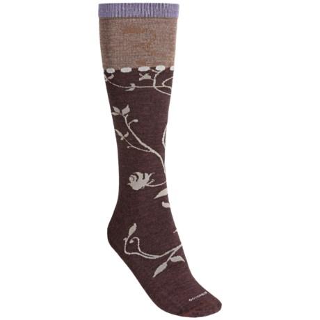 Goodhew Vineyard Socks - Merino Wool, Over the Calf (For Women) in Espresso