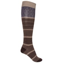 Goodhew Wellington Socks - Over the Calf (For Women) in Espresso - Closeouts