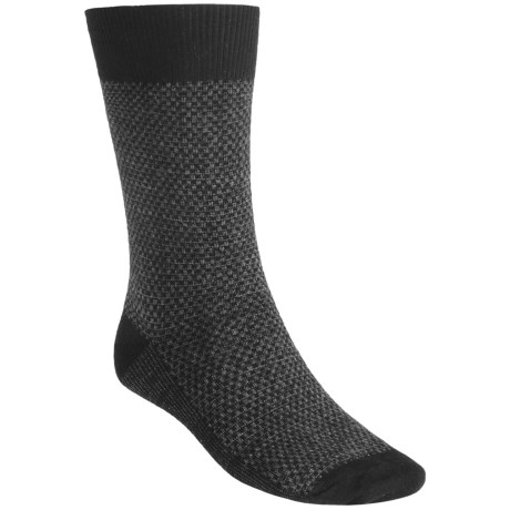 Goodhew Ziggy Socks - Merino Wool, Crew (For Men) in Black