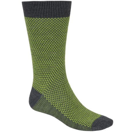Goodhew Ziggy Socks - Merino Wool, Crew (For Men) in Charcoal/Green