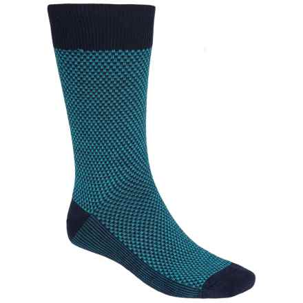 Goodhew Ziggy Socks - Merino Wool, Crew (For Men) in Navy - Closeouts