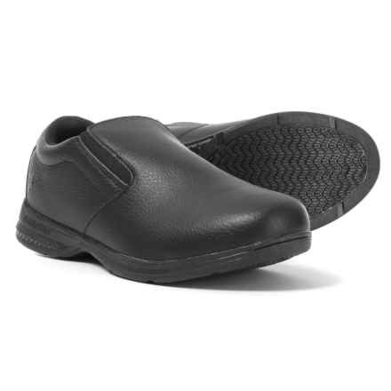 Goodyear Carson Non-Slip Work Shoes - Slip-Ons (For Men) in Black - Closeouts
