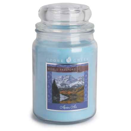 Goose Creek Happy at Home Scented Candle - 19 fl.oz., Double Wick in Aspen Air - Closeouts