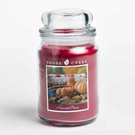 Goose Creek Happy at Home Scented Candle - Double Wick, 20 oz. in Harvest Picnic - Closeouts