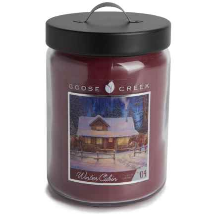 Goose Creek Happy at Home Scented Candle - Double Wick, 20 oz. in Winter Cabin - Closeouts