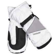 Gordini Aquabloc® Down Gauntlet Mittens - Waterproof, 600 Fill Power (For Women) in White/Light Grey - Closeouts