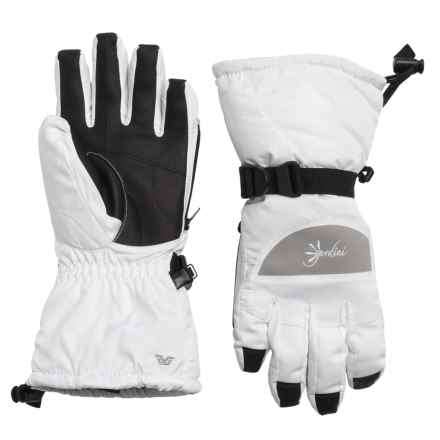 Gordini Aquabloc Lily Gloves - Waterproof, Insulated (For Women) in White/Clay Grey - Closeouts