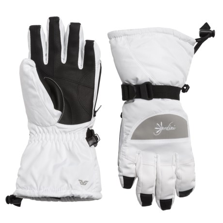 Gordini Aquabloc Lily Gloves - Waterproof, Insulated (For Women) in White/Clay Grey