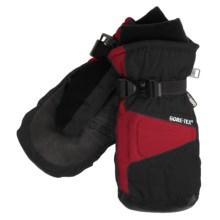 Gordini Challenge XII Gore-Tex® Mittens - Waterproof, PrimaLoft® (For Men) in Black/Crimson - Closeouts