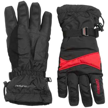 Gordini Down Gloves - Waterproof, 650 Fill Power (For Men) in Black/Crimson - Closeouts